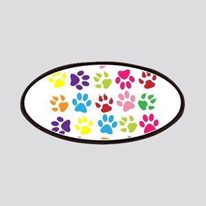 Multiple Rainbow Paw Print Design Patch