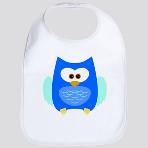 Chubby Bright Blue Owl Bib