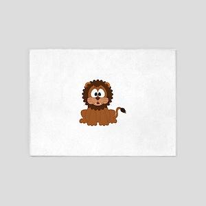 Kid Cute Lion 5'x7'Area Rug