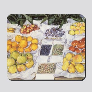 Fruit Stand by Gustave Caillebotte Mousepad