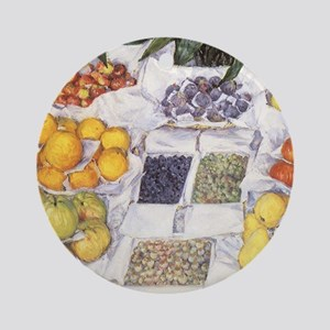 Fruit Stand by Gustave Caillebott Ornament (Round)
