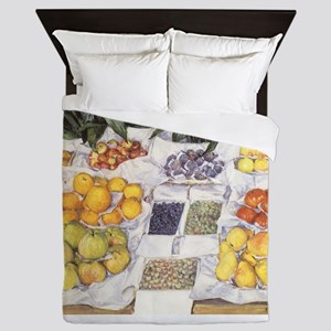 Fruit Stand by Gustave Caillebotte Queen Duvet