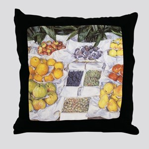 Fruit Stand by Gustave Caillebotte Throw Pillow