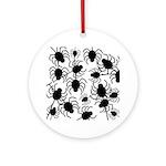 Black Spiders Ornament (Round)