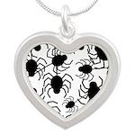 Black Spiders Necklaces
