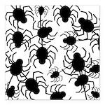 Black Spiders Square Car Magnet 3