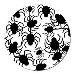 Black Spiders Round Car Magnet