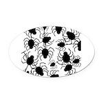 Black Spiders Oval Car Magnet
