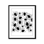 Black Spiders Framed Panel Print