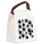 Black Spiders Canvas Lunch Bag