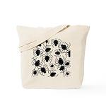 Black Spiders Tote Bag