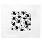 Black Spiders King Duvet