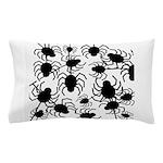 Black Spiders Pillow Case