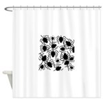 Black Spiders Shower Curtain