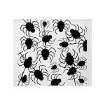 Black Spiders Throw Blanket