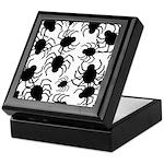 Black Spiders Keepsake Box