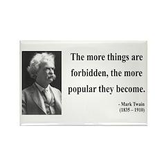 Mark Twain 32 Rectangle Magnet (10 pack)