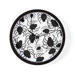 Black Spiders Wall Clock