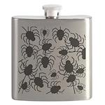 Black Spiders Flask