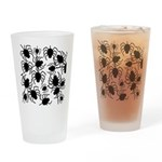 Black Spiders Drinking Glass
