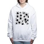 Black Spiders Women's Hooded Sweatshirt