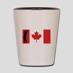 Golfer Canadian Flag Shot Glass
