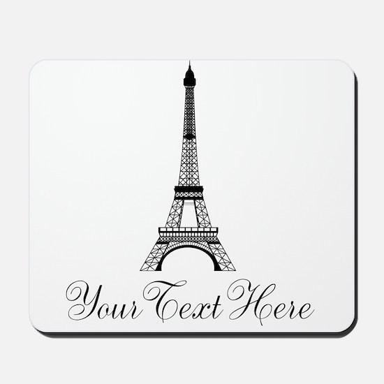 Personalizable Eiffel Tower Mousepad