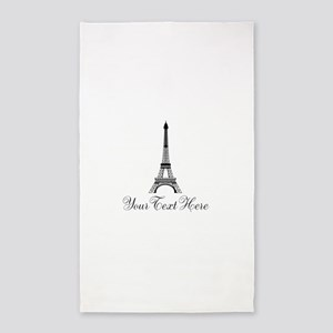 Personalizable Eiffel Tower Area Rug