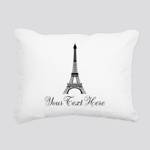 Personalizable Eiffel Tower Rectangular Canvas Pil