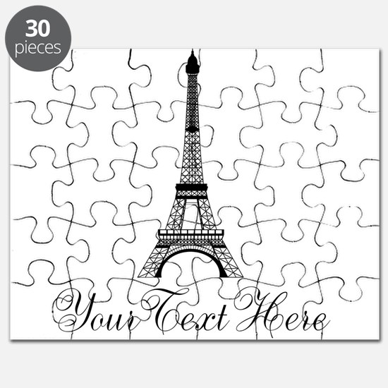 Personalizable Eiffel Tower Puzzle
