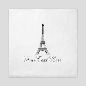 Personalizable Eiffel Tower Queen Duvet