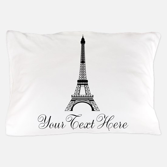 Personalizable Eiffel Tower Pillow Case
