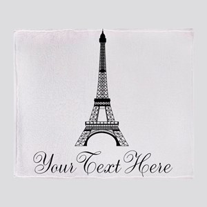 Personalizable Eiffel Tower Throw Blanket