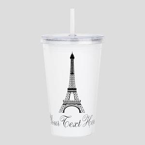 Personalizable Eiffel Tower Acrylic Double-wall Tu