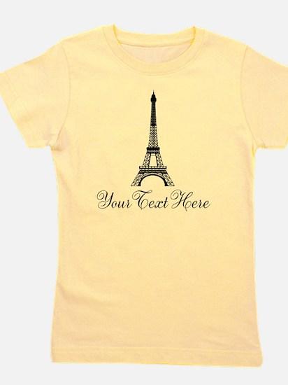Personalizable Eiffel Tower Girl's Tee