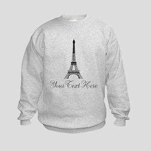 Personalizable Eiffel Tower Sweatshirt