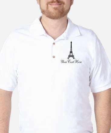 Personalizable Eiffel Tower Golf Shirt