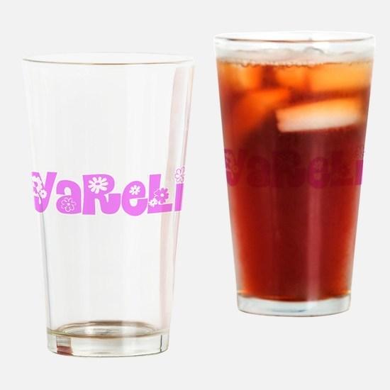 Yareli Flower Design Drinking Glass