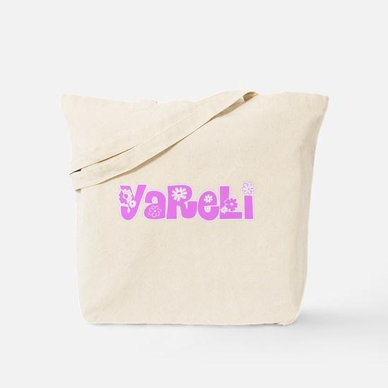 Yareli Flower Design Tote Bag
