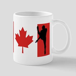Football Punter Canadian Flag Mugs