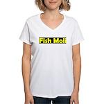 fish moli Women's V-Neck T-Shirt