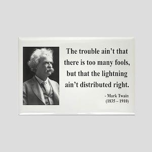 Mark Twain 33 Rectangle Magnet