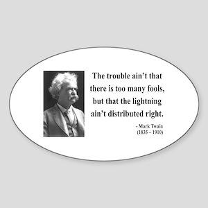 Mark Twain 33 Oval Sticker