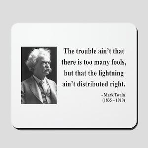 Mark Twain 33 Mousepad