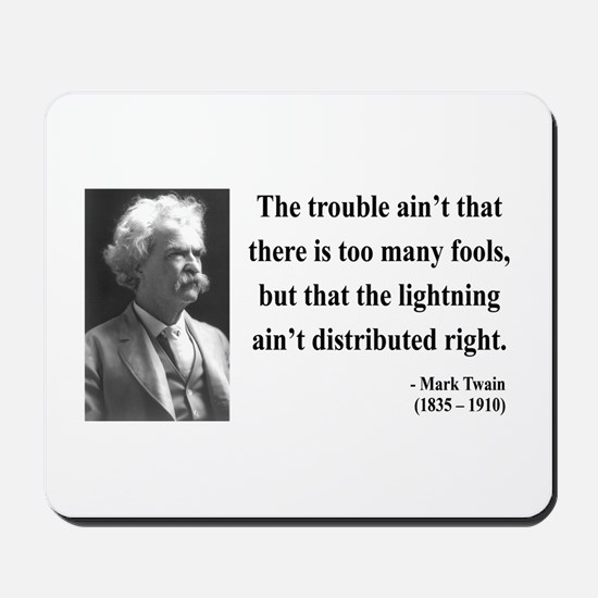 Mark Twain 33 Mousepad
