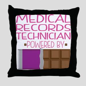 Medical Records Technician Throw Pillow