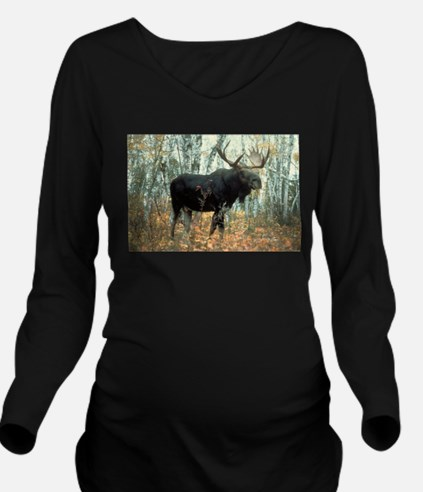 Huge Moose Long Sleeve Maternity T-Shirt