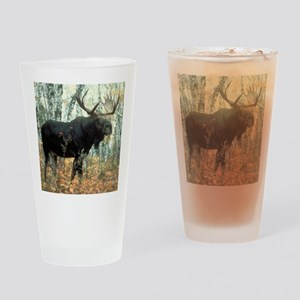 Huge Moose Drinking Glass
