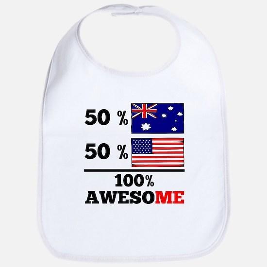 Half Australian Half American Bib