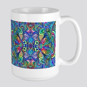 Colorful Abstract Psychedelic Symmetrical Swi Mugs